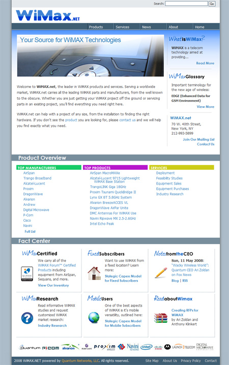 A mockup front page