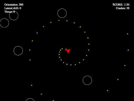 Asteroids browser game using Javascript/Canvas