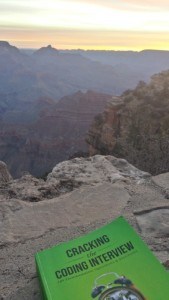 Sunrise on the Grand Canyon and my book!